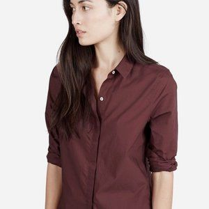 Everlane | Burgundy Button Up Shirt
